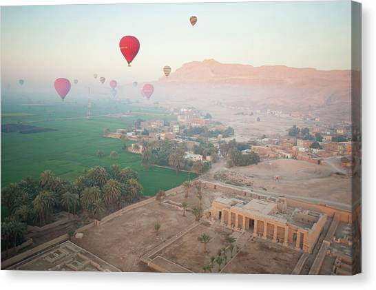 Balloons Near Valley Of The Kings Canvas Print