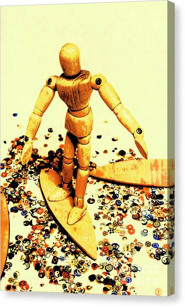 Surfboard Canvas Print - Balsa Boarder 1970 by Jorgo Photography - Wall Art Gallery