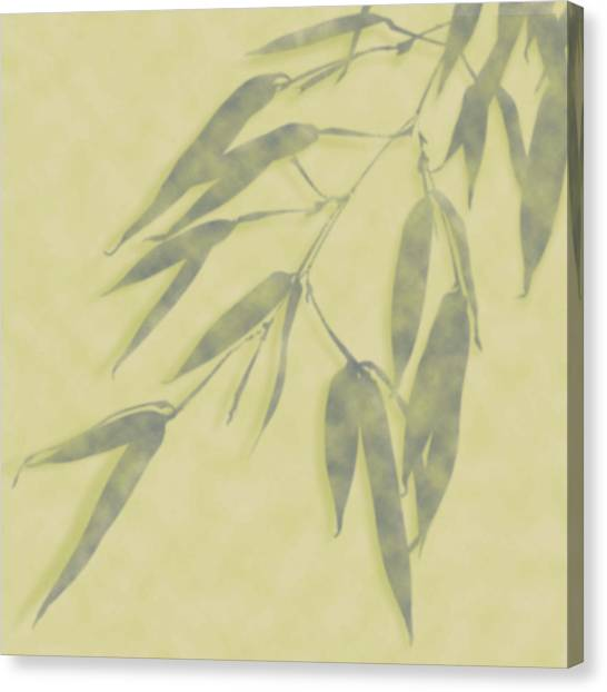 Bamboo Leaves 0580b Canvas Print