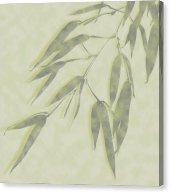 Bamboo Leaves 0580c Canvas Print