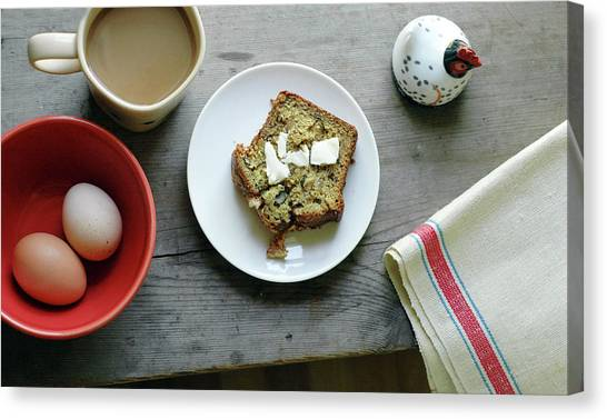 Banana Bread For Breakfast Canvas Print