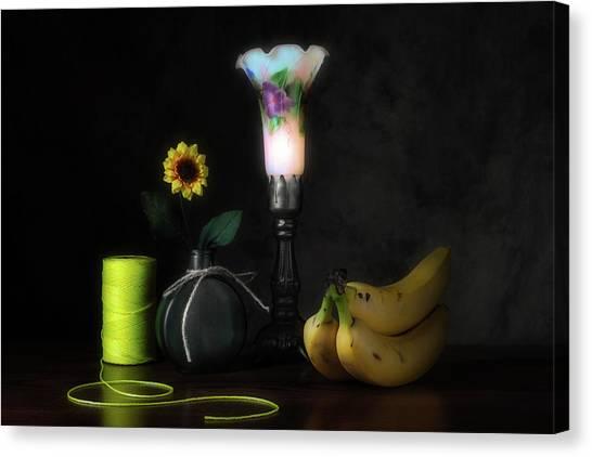 Banana Canvas Print - Banana Yellow by Tom Mc Nemar