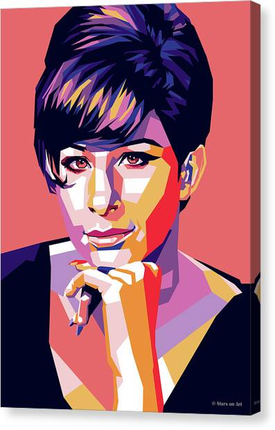 Barbra Streisand Pop Art Canvas Print