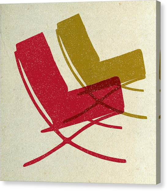 Tasteful Canvas Print - Barcelona Chairs I by Naxart Studio