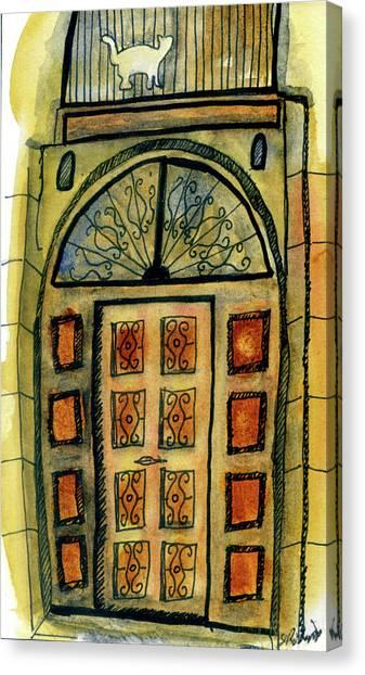 Barcelona Door Canvas Print