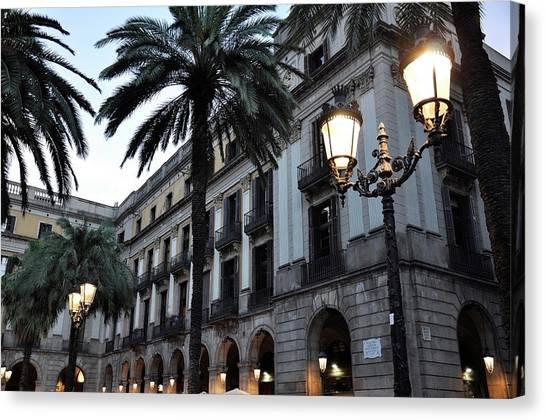 Barcelona, Placa Reial Canvas Print