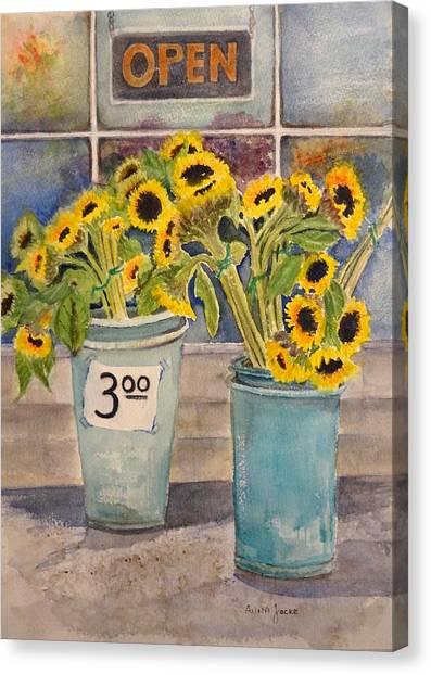 Bargain Buckets Canvas Print