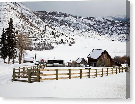 Barn Near Snowmass Village, Aspen Canvas Print