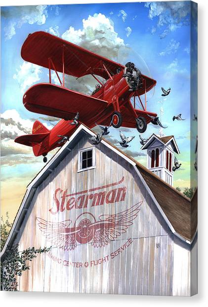 Canvas Print featuring the painting Barn Stormer - Customizeable by Clint Hansen