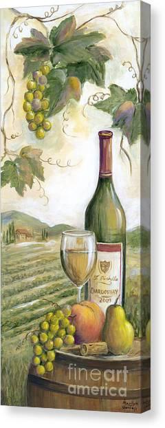 Wine Barrels Canvas Print - Barrel Of White by Marilyn Dunlap