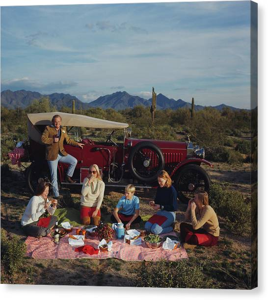 Barrett Family Picnic Canvas Print