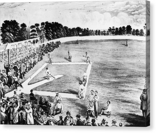 Baseball Game Canvas Print by Hulton Archive
