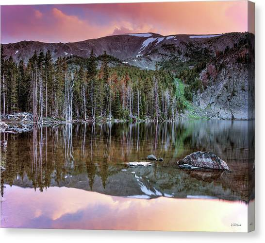 Basin Lake Sunset Canvas Print by Leland D Howard