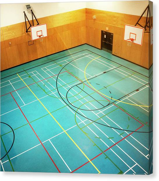Basketball Courts Canvas Print