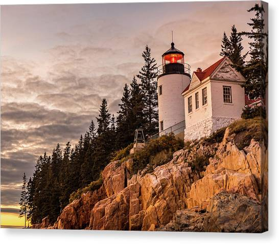 Canvas Print featuring the photograph Bass Harbor Lighthouse by Dan Sproul