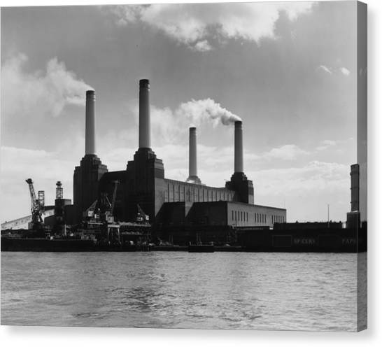 Battersea Power Canvas Print by Woolnough