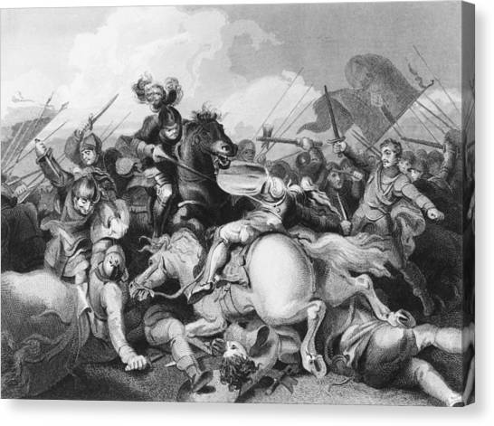Battle Of Bosworth Field Canvas Print by Hulton Archive