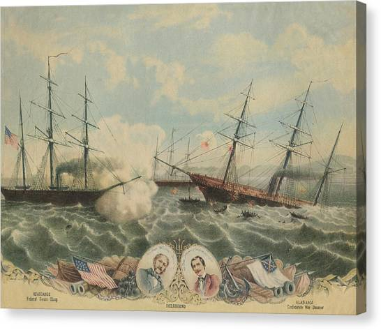 Battle Of Cherbourg Canvas Print by Hulton Archive