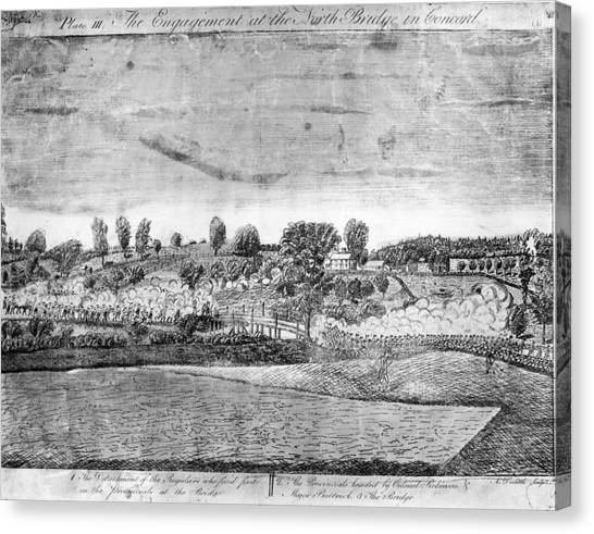Battle Of Concord Canvas Print by Fotosearch