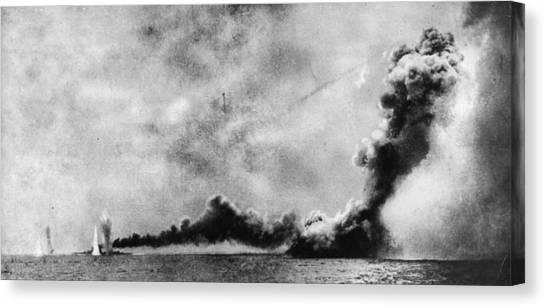 Battle Of Jutland Canvas Print by Hulton Archive