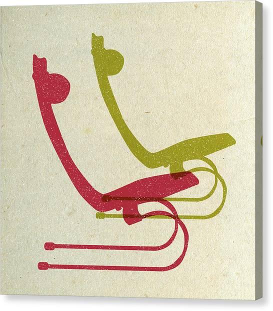 Tasteful Canvas Print - Bauhaus Chairs I by Naxart Studio