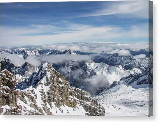 Canvas Print featuring the photograph Bavarian Alps, Zugspitze by Dawn Richards