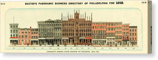 Baxter's Panoramic Business Directory Canvas Print