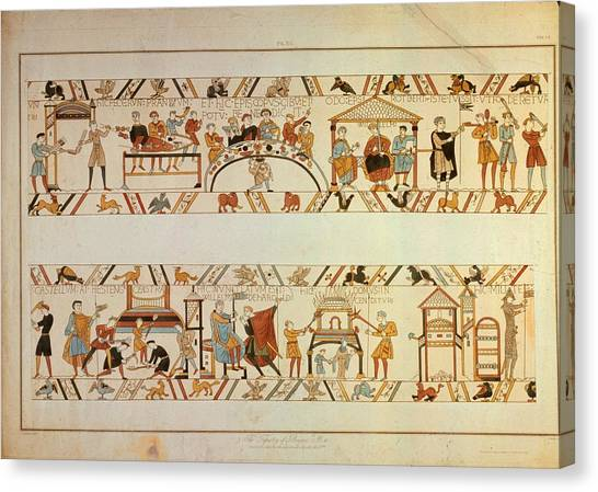 Bayeux Tapestry Canvas Print by Hulton Archive