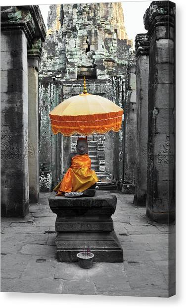 Bayon Temple - Angkor Wat, Siem Reap Canvas Print
