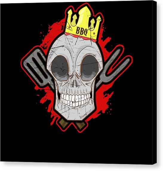 Cookout Canvas Print - Bbq King by Twin Tee