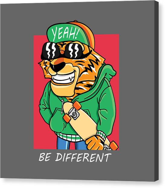 Be Different - Baby Room Nursery Art Poster Print Canvas Print