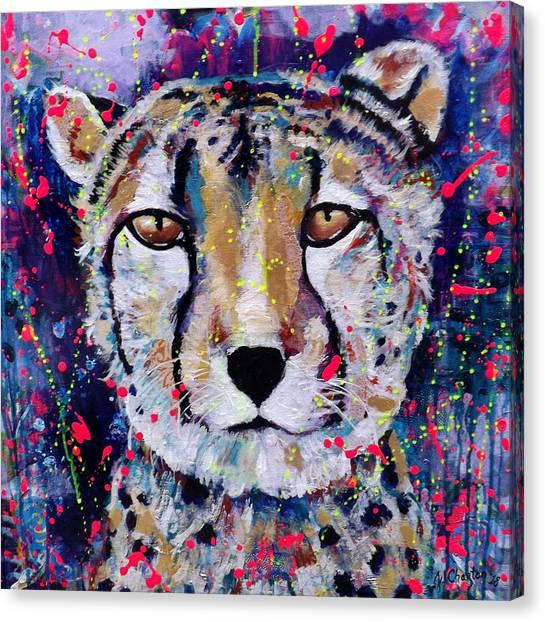 Be Fearless Canvas Print by Jennifer Charton