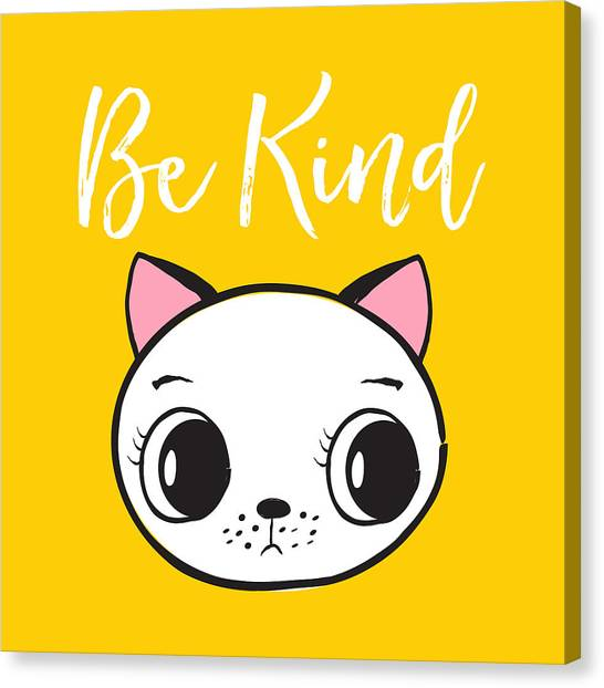 Be Kind - Baby Room Art Poster Print Canvas Print