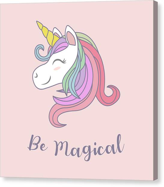 Be Magical - Baby Room Nursery Art Poster Print Canvas Print