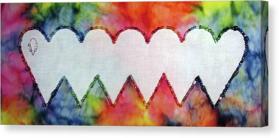Be Still My Beaded Hearts Canvas Print