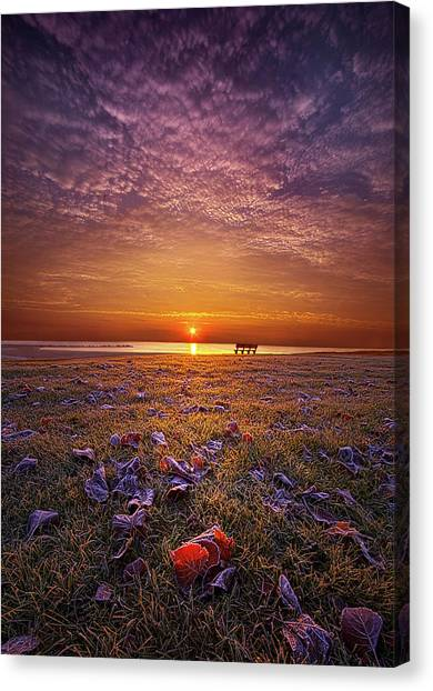 Sunrise Horizon Canvas Print - Be The Light by Phil Koch
