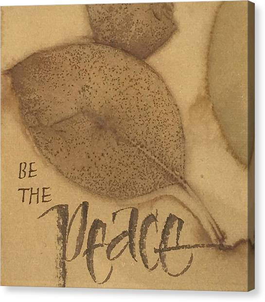 Be The Peace Canvas Print