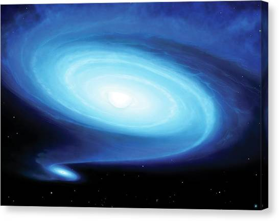 Be X-ray Binary System Canvas Print by Mark Garlick