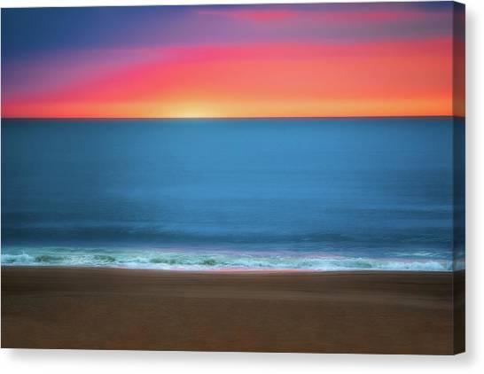 Virginia Canvas Print - Beach At Sunrise by Tom Mc Nemar