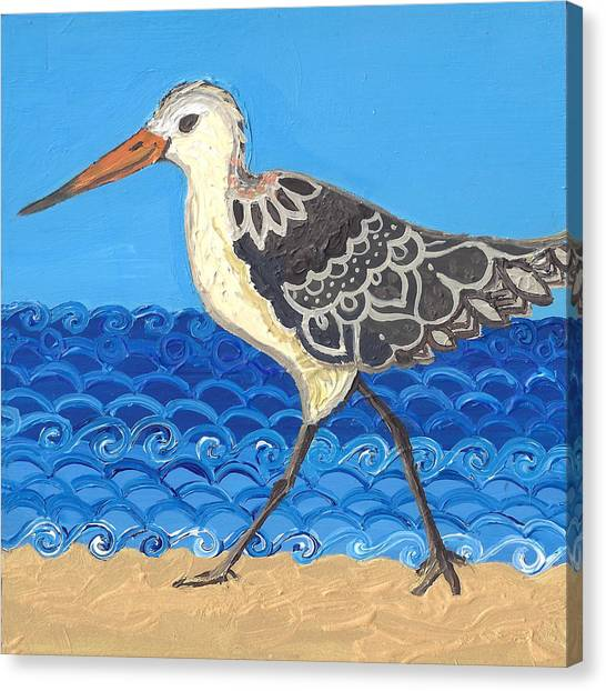 Beach Bird 2 Canvas Print