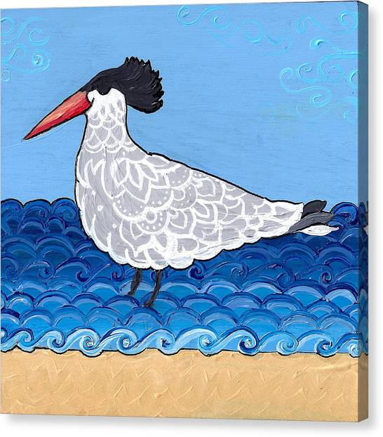 Beach Bird 3 Canvas Print