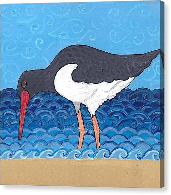 Beach Bird 4 Canvas Print