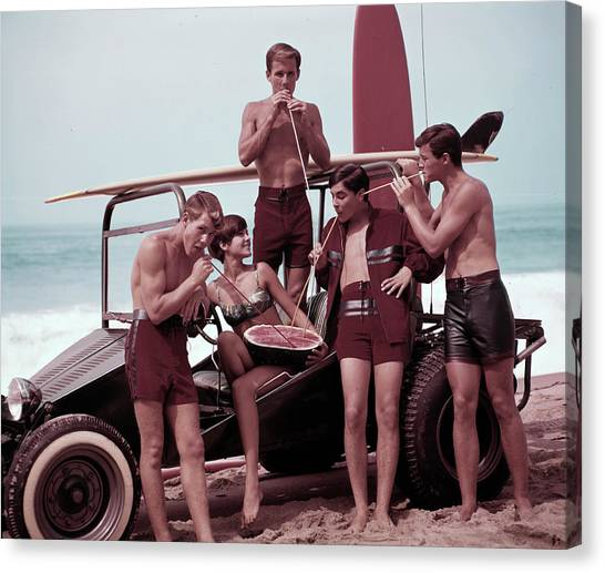 Beach Buggy Buddies Canvas Print by Tom Kelley Archive