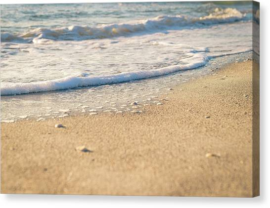 Beach Shorline Canvas Print