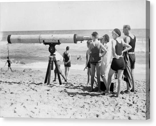 Beach Telescope Canvas Print