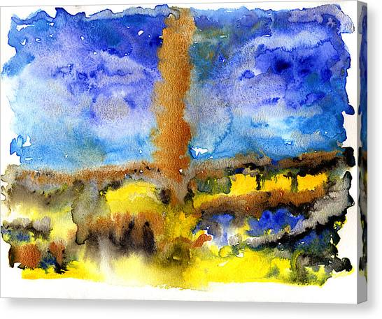 Canvas Print featuring the painting Beam Of Light by Bee-Bee Deigner