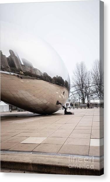 Cloudgate Canvas Print - Bean Stopper by David Bearden