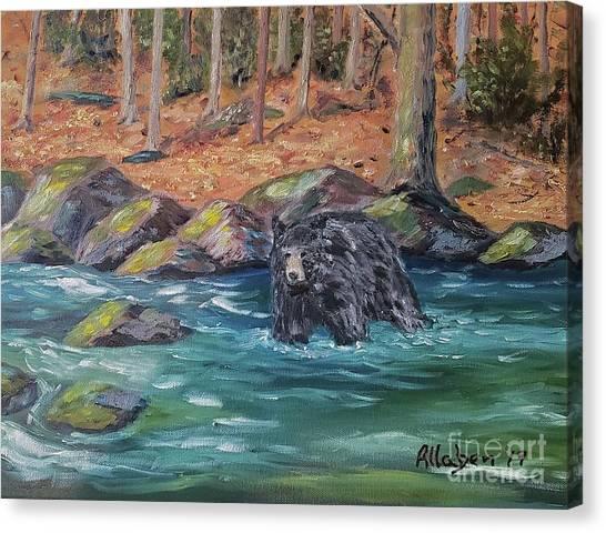 Bear Crossing Canvas Print