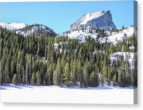 Canvas Print featuring the photograph Bear Lake View Of Notchtop Mountain by Dawn Richards