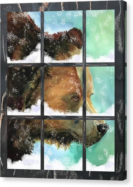 Bear Outside My Window Canvas Print